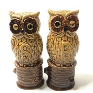 Winking Owl Salt And Pepper Shakers Made In Japan